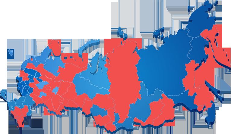 Карта региональных отделений РКССАА